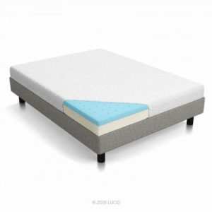 Lucid 5 inches Gel Memory Foam Dual Layers Mattress